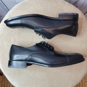 ***Testoni basic black shoes men's size 8
